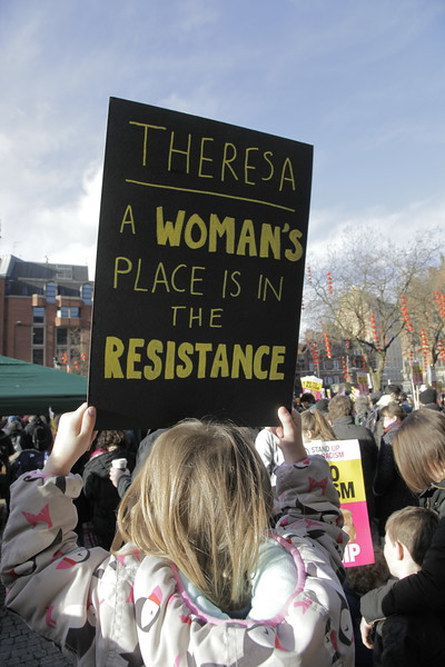 Poetry in our Protest - Manchester says Dump Trump