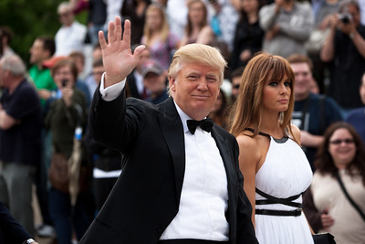 Donald Trump with wife, Melania Knauss-Trump (White House Correspondents Dinner)