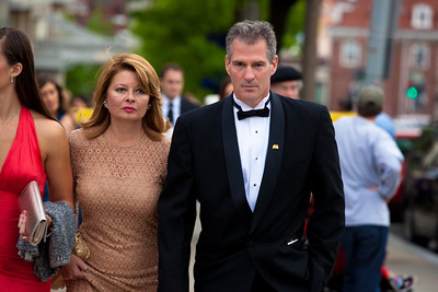 Sen. Scott Brown (R-MA) with wife Gail Huff