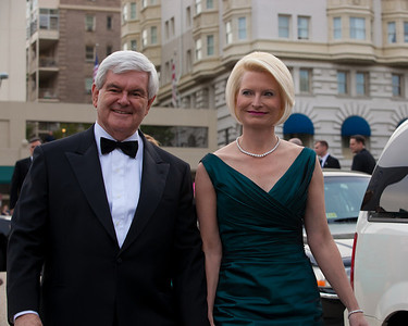 Newt Gingrich and wife Callista (White House Correspondents Dinner)