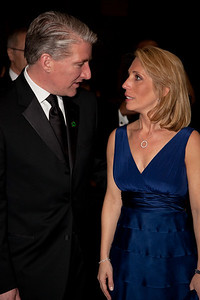 (Mr & Mrs) John King and Dana Bash