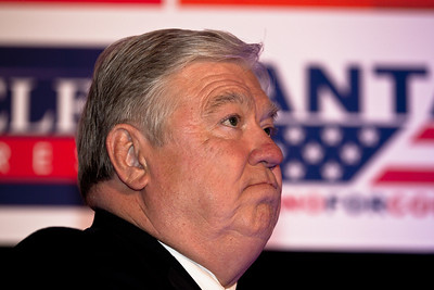 Republican Governors Association Chairman Haley Barbour (R-Miss) speaks during RNC Election Night Results Watch event in Washington, DC, on November 2, 2010.