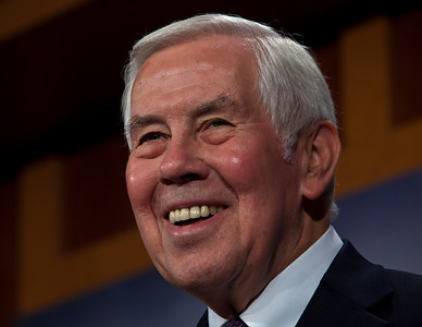 Senator Richard Lugar (R-IN) is all smiles. Sen. John Kerry (D-MA) and  Lugar answer reporters questions just minutes after the Senate ratified the New Strategic Arms Reduction Treaty.