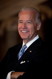 Vice President Joe Biden waits to see if there is anyone else at the conclusion of the ceremonial Senate swearing-in of Senators on Jan. 5, 2011, on Capitol Hill in Washington.
