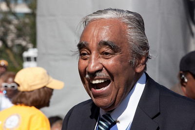 Rep. Charles Rangel (D-NY) is in attendance at the progressive 'One Nation Working Together' rally at the Lincoln Memorial in Washington DC on October 2, 2010.