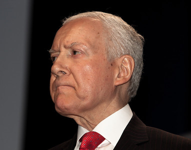 Senator Orrin Hatch (R-UT) speaks at the annual Conservative Political Action Conference (CPAC) at the Marriott Wardman Park Hotel in Washington DC on Feb.11, 2011. (Photo by Jeff Malet)
