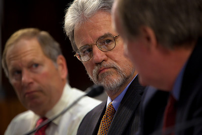 Sen. Tom Coburn (R-OK) (center), as a member of President Barack Obama's deficit reduction commission. Dec. 1, 2010.