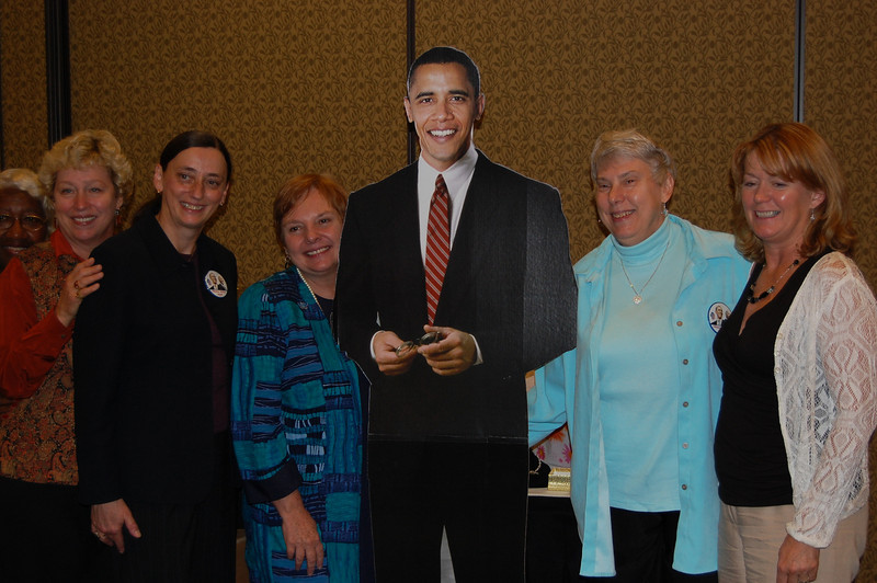 Harper ProTech'rs enjoy the moment with Barack.