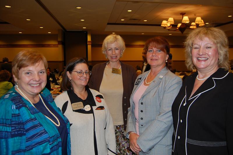Pat Wenthold, State Representative Terry Hall, Democratic Chair Gail E. Spencer, Representative Amanda Howland and Jillian Verstrate.