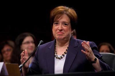 Elena Kagan jokes around with senators at her Supreme Court confirmation hearing.