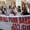 PAMPANGA. Church leaders led by Bishop Ambo David express strong opposition against pork barrel, during an indignation rally at the Holy Rosary Parish Monday. (Rey Navales photo/Sun.Star Pampanga)