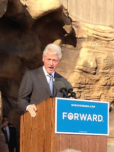 Pres. Bill Clinton at Obama Rally