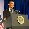 President Barack Obama.  Asian Pacific American Institute for Congressional Studies (APAICS) .  This 18th Annual Gala Awards was the largest yet, thanks in part to the White House Initiative on Asian Americans and Pacific Islanders.  President Obama spoke.  Photo by Ben Droz.