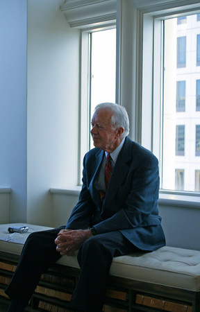 President Carter at Ladybird's penthouse