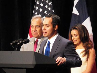 Congressman Charlie Gonzales, Mayor Julian Castro, Hollywood Actress Eva Longoria