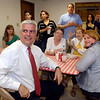 David McIntosh, Republican candidate for U.S. Representative, District 5, follows the final vote totals for Madison County at the Madison County Republican Headquarters  Tuesday evening.  McIntosh , in a six person race for the district 5 seat, won Madison County by more than a 2-to1 margin.