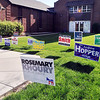 John P. Cleary | The Herald Bulletin<br /> This lone voter makes his way along the walkway toward the Ward 1, Precinct 6 polling site at East Side Church of God Tuesday morning.