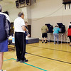 John P. Cleary | The Herald Bulletin<br /> Voters had to wait in line to vote Tuesday morning at Union Twp., Precinct 1 at Bethany Christian Church as the turnout has been steady all morning.