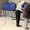 Don Knight | The Herald Bulletin<br /> Voter turnout was light but steady at Anderson Zion Baptist Church on Tuesday afternoon.