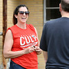 John P. Cleary | The Herald Bulletin <br /> Republican candidate for Anderson City Council District 1 Jennifer Culp greets voters as they enter the National Guard Armory voting site for Ward 1, Pct. 1,4, and 7 Tuesday.