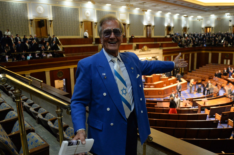 Singer Pat Boone attends Israeli Prime Minister Benjamin Netanyahu's  controversial speech to Congress .