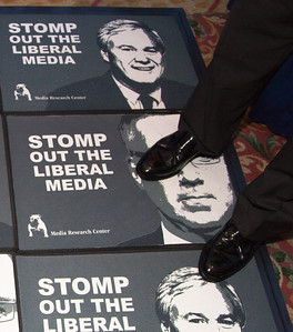 """Social conservative organization's such as The Media Research Center exhibited at the Values Voter Summit in Washington DC on September 17, 2010. The mission of the Media Research Center, """"America's Media Watchdog,"""" is to bring balance to the news media. (Photo by Jeff Malet)."""