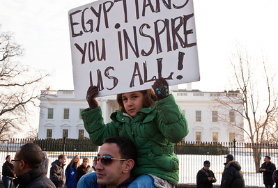 Egyptian protestors, White House