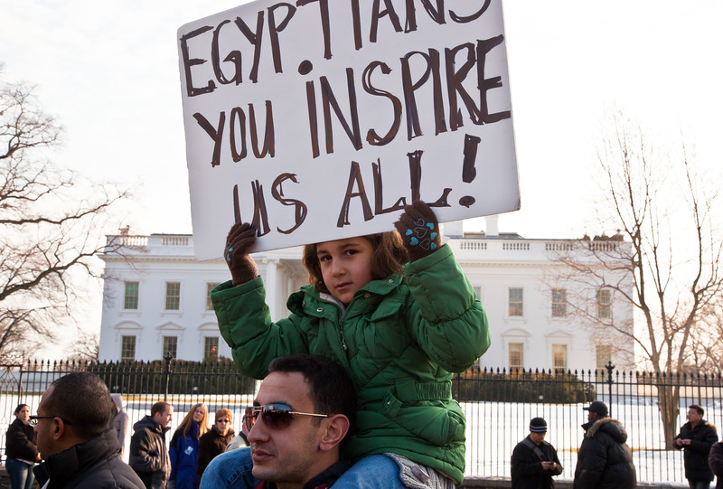 Egyptian protestors, White House