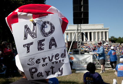 Tens of thousands attend progressive 'One Nation Working Together' rally in Washington DC on October 2, 2010 where progressive activists were hoping to counter the conservative tea party movement and energize the electorate amid fears that the Democrats could lose control of Congress.  (Photo by Jeff Malet)