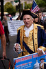 Tea Partiers, many dressed in colonial garb, marched down Pennsylvania Avenue in Washington DC for a second 9/12 rally on September 12, 2010. The focus was on the upcoming November 2nd Congressional elections where Republicans hope to take back the majority. (Photo by Jeff Malet)
