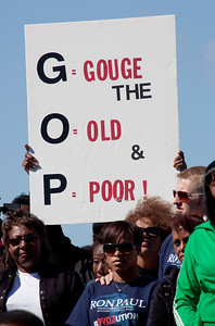 Thousands of Americans led by the Rev. Al Sharpton rallied Saturday against the backdrop of the Washington Monument, calling for easier job access and decrying the gulf between rich and poor before marching to the new Martin Luther King Jr. Memorial. (Saturday, October 15, 2011)