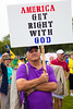 Religious signs were in abundance as Tea Partiers marched down Pennsylvania Avenue in Washington DC for a second 9/12 rally on September 12, 2010.