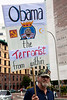 """President Obama was the target of home made signs as Tea Partiers marched down Pennsylvania Avenue in Washington DC for a second 9/12 rally on September 12, 2010. This one calls the president """"the terrorist from within"""". (Photo by Jeff Malet)"""