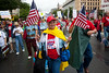 American flags were in abundance as Tea Partiers representing their state of Indiana marched down Pennsylvania Avenue in Washington DC for a second 9/12 rally on September 12, 2010. (Photo by Jeff Malet)