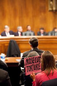 Sen. Whitehouse Torture Hearing - 5-13-09 (Code Pink)