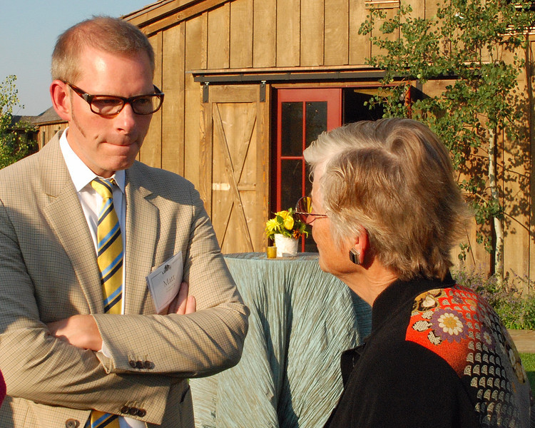 Matt Kibbe, President of Freedomworks with an event attendee.