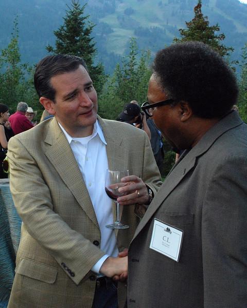 Ted Cruz (L) with Rev. C.L. Bryant