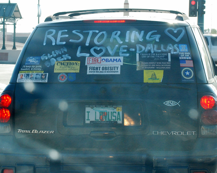 This was the vehicle in front of us going in to the event.