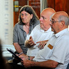 SENTINEL & ENTERPRISE / BRETT CRAWFORD<br /> Councilor Wayne Nickel, center, asks questions as Councilor Claire Freda looks on while Councilor James Lanciani writes notes during an informational meeting for the public and City Council in July 2013 at Leominster City Hall.