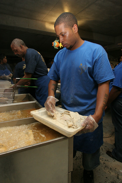 Clarence Smith of Columbia<br /> employee of Palmetto Seafood
