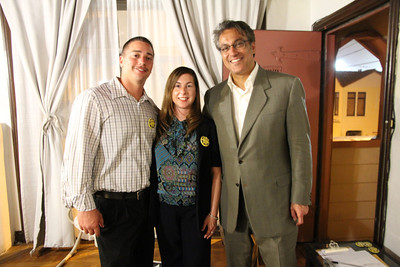 Christine Fuller, center. Ross Mirkarimi, right.