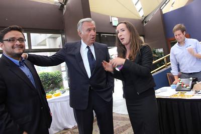 Left to right, Supervisor David Campos, Mayor Art Agnos, Campaign Manager Aimee Ellis (for Ross Mirkarimi).