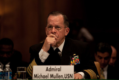 Joint Chiefs Chairman Admiral Mike Mullen urges the U.S. Senate to approve a new arms control START Treaty with Russia. He testified as the Senate Foreign Relations Committee began hearings May 18, 2010 on Capitol Hill in Washington DC. The treaty, which would replace the 1991 Strategic Arms Reduction Treaty and the 2002 Moscow Treaty, was signed by President Obama and Russian President Dmitry Medvedev at Prague Castle on April 8. (Photo by Jeff Malet)