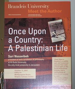 Sari Nussebeh @ Brandeis 11 Oct 07