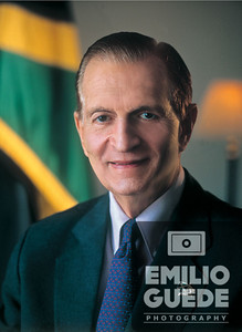 Portrait of Edward Seaga, Former Prime Minister of Jamaica