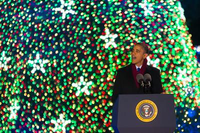 Barack Obama, National Christmas Tree