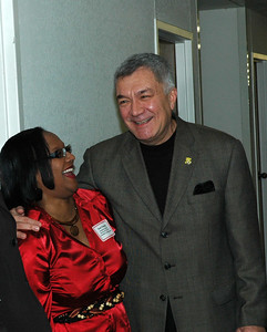 KAAAC Commissioner Gail Finney and City of Wichita Mayor Carlos Mayas