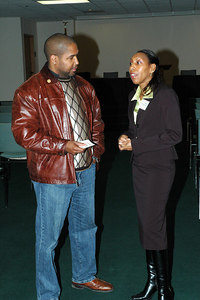 NAACP President Kevin Myles and KAAAC Exec Director Danielle Dempsey-Swopes