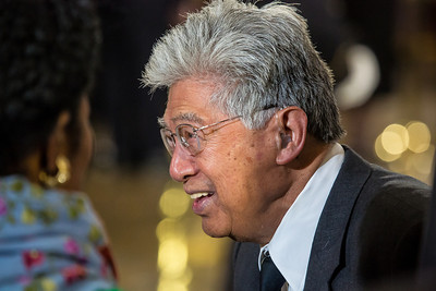 Hawaiian Senator Daniel Akaka pays his respects to his colleague, the late Senator Daniel Inouye who  lies in state in the U.S. Capitol Rotunda in Washington D.C. on Thursday, Dec. 20, 2012. There, colleagues and members of the public pay their respects to the Senate's second-longest serving member. The Democrat from Hawaii was a Medal of Honor recipient for valor in World War II. He died Monday from respiratory ailments at age 88. Lying in state is an honor typically reserved for presidents, bestowed only 31 times since the 1800s. According to tradition, Draped in the American Flag, Inouye's casket sat underneath the Capitol dome, atop the Lincoln catafalque, the platform built in 1865 to support Abraham Lincoln's casket when that president's body lay in state.  (Photo by Jeff Malet)