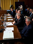 The heads of five of the largest oil and gas companies in the world testified before the Senate Finance Committee on May 12, 2011 on Capitol Hill in Washington DC, arguing that ending tax in ...